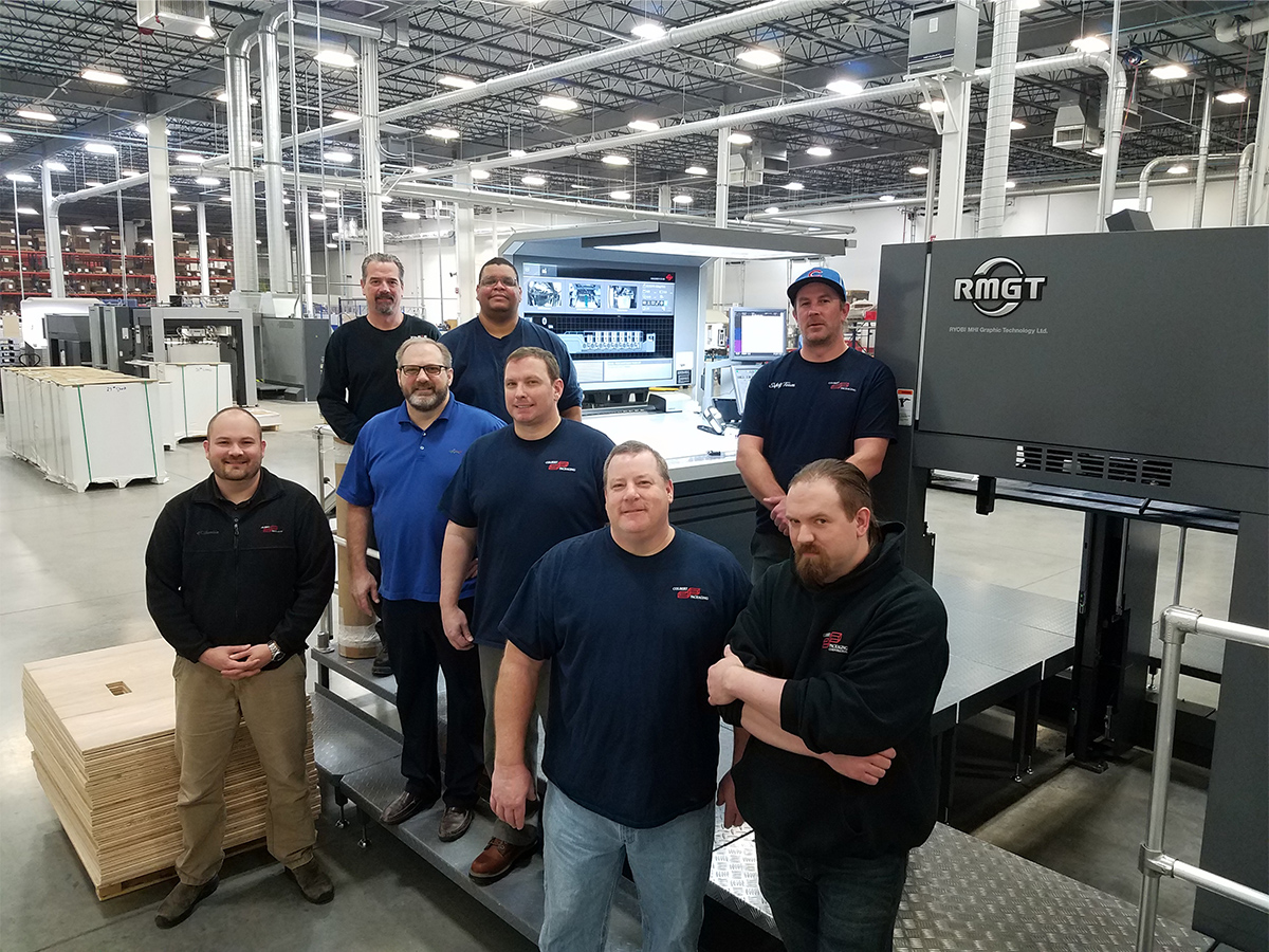 RM Machinery Installs Longstanding RMGT/Mitsubishi Press User, Colbert Packaging's, 2nd RMGT Sheetfed Packaging Press in Three Years